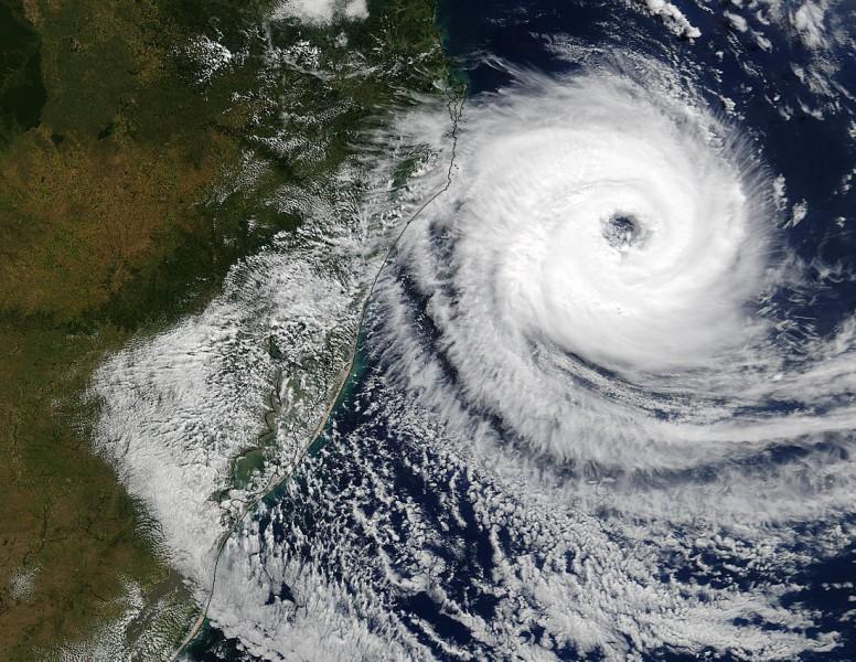 O Furacão Catarina, um ciclone tropical do Atlântico Sul e extremamente raro, completou 17 anos em março de 2021. Sua formação começou no dia 24 de março de 2004, e foi a única tempestade já registrada com força de furacão nessa região do Oceano Atlântico. Foto: Epagri/divulgação