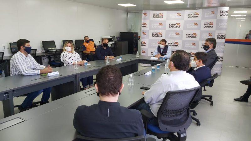 Governador esteve reunido com o prefeito de Joinville, Adriano Silva, na manhã desta sexta-feira (26) – Foto: Kelly Borges/NDTV