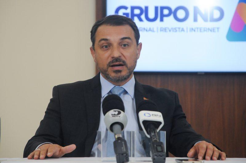 Governador Carlos Moisés foi sabatinado por jornalistas do Grupo ND – Foto: Leo Munhoz/ND