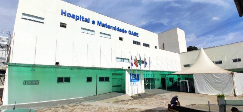Hospital Oase, em Timbó, que é referência no atendimento à Covid-19 no Vale do Itajaí, só tem insumos para mais dois dias de internação na UTI – Foto: Stevão Limana/NDTV