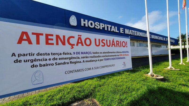 Hospital mudou o atendimento de pacientes adultos na cidade – Foto: Prefeitura de São Francisco do Sul/Divulgação