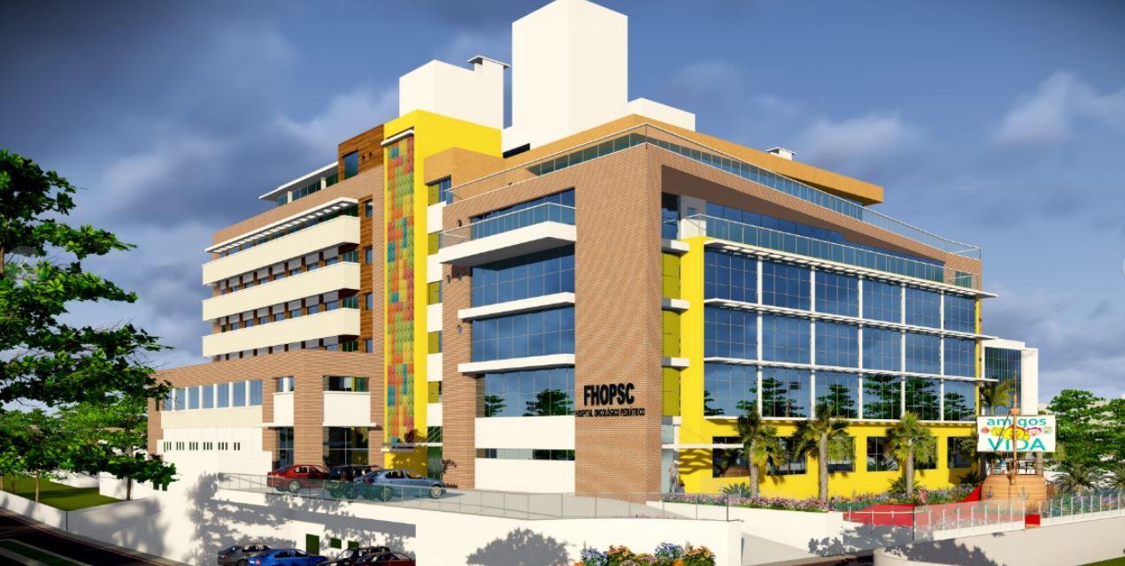 Fachada do hospital que seria construído pela FHOPSC - Divulgação/FHOPSC/ND