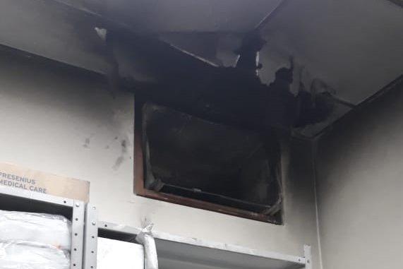 Princípio de incêndio assusta funcionários e pacientes de hospital em Blumenau – Foto: Divulgação/Corpo de Bombeiros Blumenau