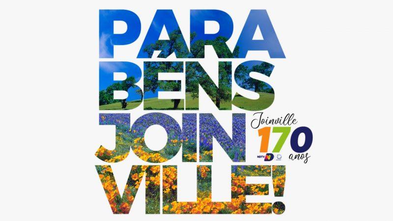 Joinville completou 170 anos no dia 9 de março – Foto: Arte/Grupo ND