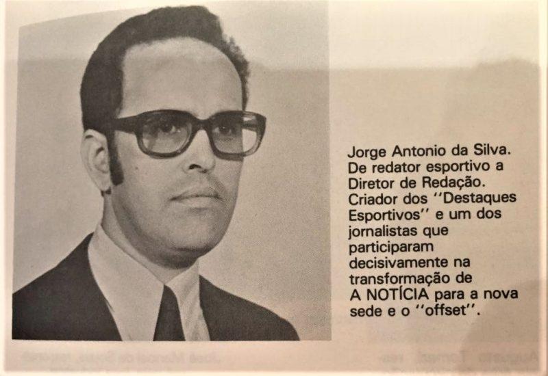 Jorge Antônio da Silva teve uma trajetória marcante no jornalismo catarinense – Foto: Arquivo pessoal, Apolinário Ternes