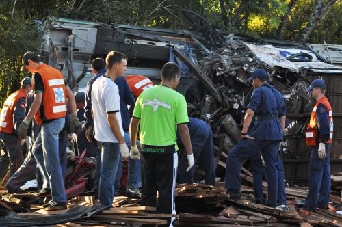 O acidente ocorreu na madrugada do sábado, dia 5 de março de 2011 e completou 10 anos esta semana. – Foto: Jornal Folha do Oeste/Reprodução