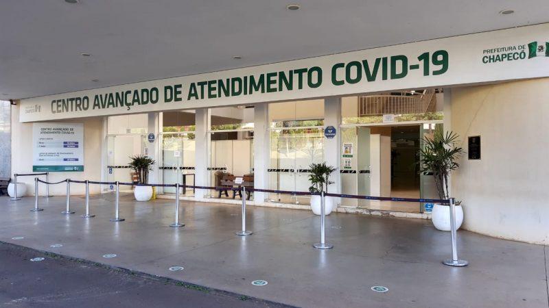 O espaço foi montado para ampliar o atendimento de pacientes com Covid-19. – Foto: Leandro Schmidt/Prefeitura de Chapecó/ND
