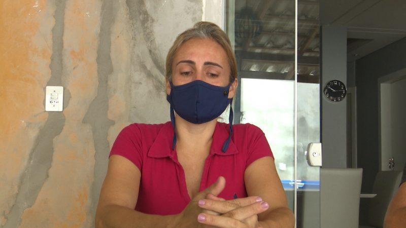 Michele Valler de Faria, mãe de Ryan, também convive com a dor da falta do filho querido – Foto: Reprodução vídeo/Divulgação ND
