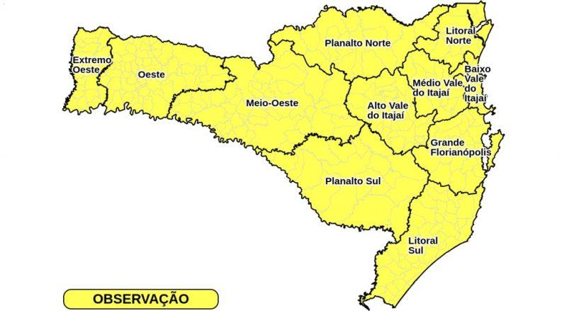 Previsão de chuva forte em todas as regiões do Estado – Foto: Divulgação/ND