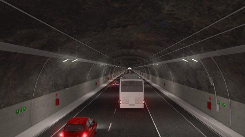 Túnel sugerido pela concessionária será construído com uma série de mecanismos iluminação e monitoramento – Foto: Arteris Litoral Sul/divulgação