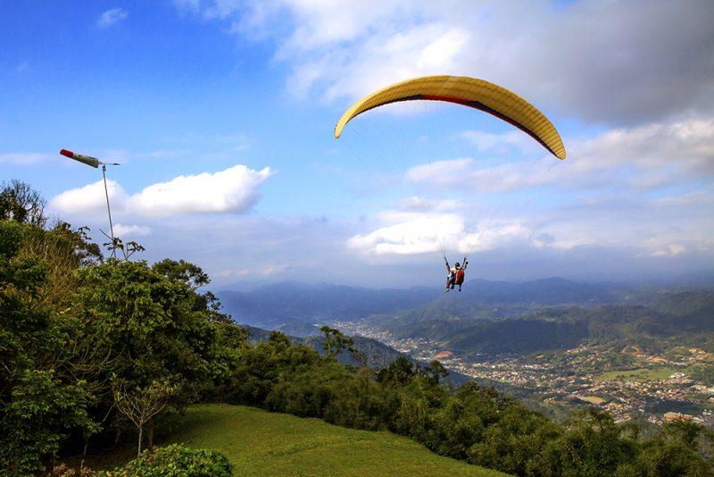 O parque do Morro Azul é muito procurado por praticantes de parapente – Foto: Rogério Edgar Maas