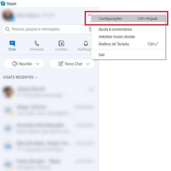 Passo 1 - Crédito: Reprodução/Skype/33Giga/ND