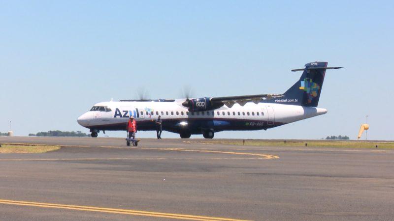 Azul disse que avalia retorno dos voos diretos em maio – Foto: NDTV Chapecó/Reprodução