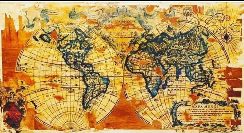 Obra de acervo particular chamada Compromissos do Mundo para ilustrar a matéria