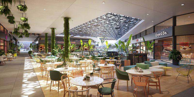 OKA Floripa tem um mall com 41 lojas em um mix diversificado de gastronomia, entretenimento, comércio e serviços – Foto: Divulgação/ND