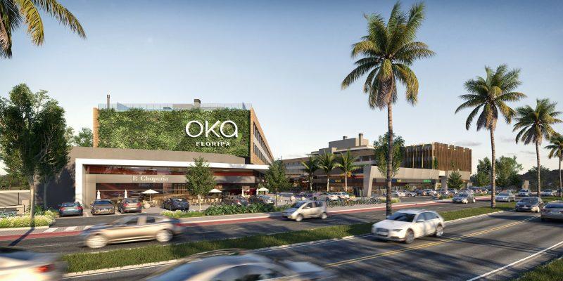 OKA Floripa propõe uma nova forma de viver, onde é possível morar, trabalhar e usufruir de um mix de lojas e serviços – Foto: Divulgação/ND