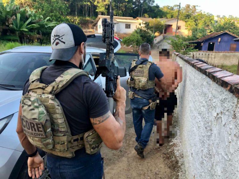 Polícia Civil prende três suspeitos de assaltos a cooperativas de crédito em Santa Catarina – Foto: Divulgação/Polícia Civil
