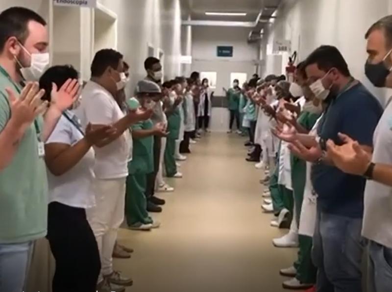 Hospital está há duas semanas atendendo sua capacidade máxima – Foto: Reprodução Redes Sociais