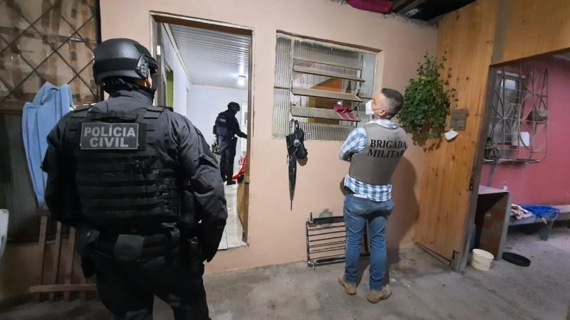 Operação cumpriu 14 ordens judiciais no RS e em SC nesta terça-feira (30) – Foto: Polícia Civil do Rio Grande do Sul/Divulgação/ND