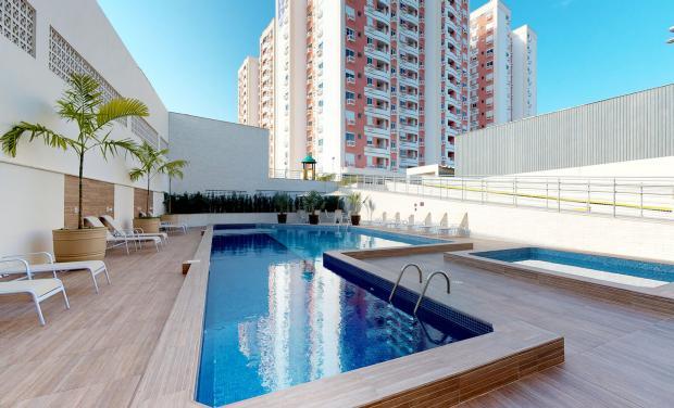 Opte por condomínios que tenham ampla área sociais, incluindo piscinas - Divulgação/AM Construções