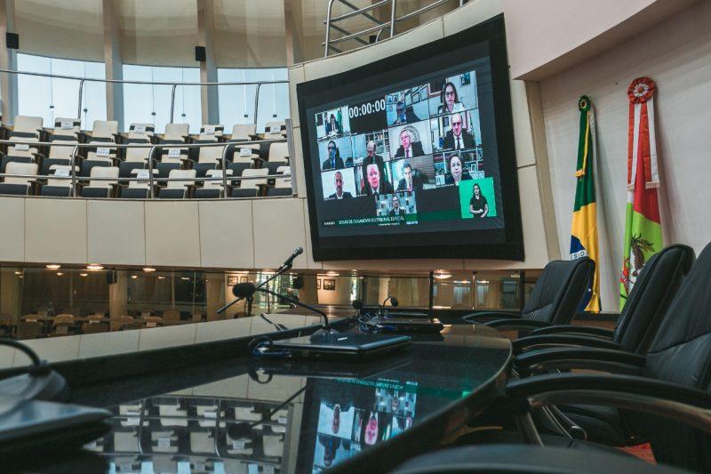 Plenário da Alesc na votação do impeachment do governador de SC – Foto: Leo Munhoz/ND