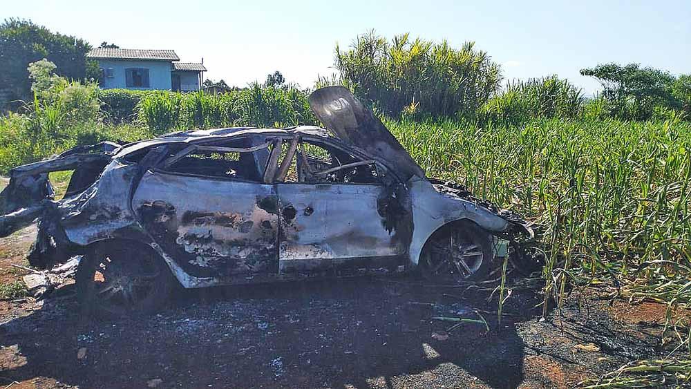 Acidente ocorreu na SC-283, no Distrito de Santo Antônio, em Concórdia. - PMRv/Divulgação/ND