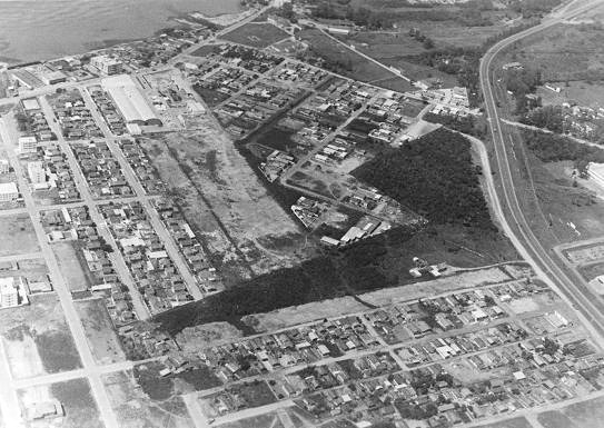 A diminuição da área da cidade foi uma das maiores transformações na história de São José. Se em 1840 o município contava com 10 mil km² e 7.688 habitantes, em 2020, são 150,4 km² e uma população de 250 mil pessoas. - Reprodução/ND