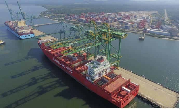 Porto de Itapoá, próximo à Garuva, é considerado um dos terminais mais ágeis e eficientes da América Latina – Foto: Divulgação/ND