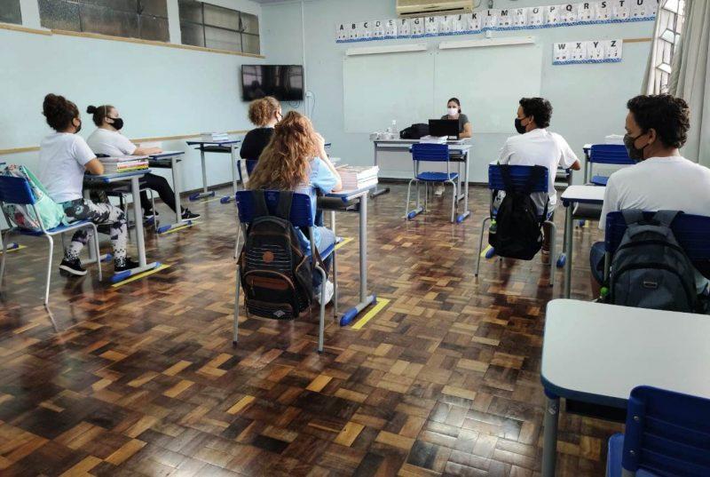 aulas foram retomadas de forma presencial em Xanxerê