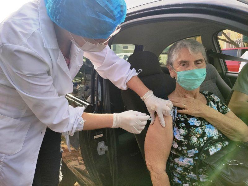 Vacinação iniciou na manhã desta quarta-feira e segue até às 16h – Foto: Prefeitura de Xanxerê/Divulgação/ND