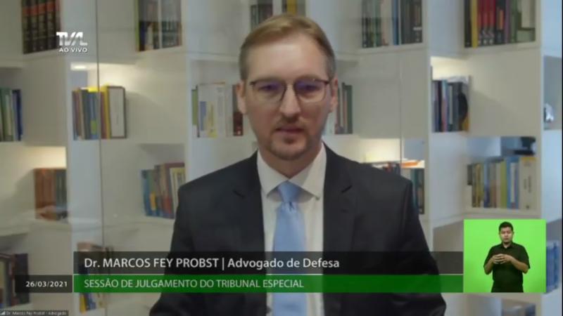 Marcos Probst, advogado de defesa, disse que Moisés não pode responder por ações de terceiros – Foto: TV AL/Divulgação/ND