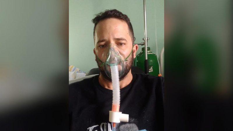 Marcos Drumm, tinha 38 anos, ficou quase um mês internado – Foto: Arquivo pessoal/Reprodução/ND