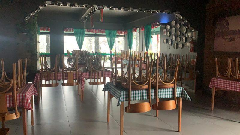 Restaurante fechado em Nova Veneza – Foto: Divulgação