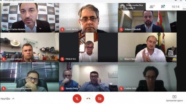 Reunião online foi realizada na tarde desta terça-feira (13) – Foto: Divulgação/Secom