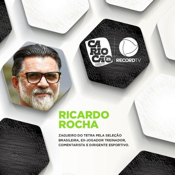 Campeonato Carioca, Cariocão 2021, Ricardo Rocha, – Foto: Divulgação/RecordTV/ND