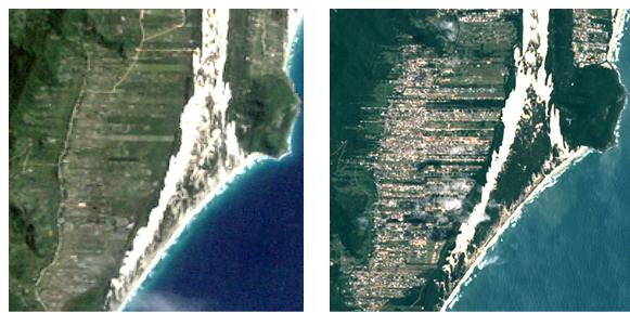 Em 1989, a Capital Catarinense apontava um índice de 15% de seu território ocupado por área urbana. A foto acima refere-se ao bairro Rio Vermelho, no Norte da Ilha – Foto: Divulgação/ND
