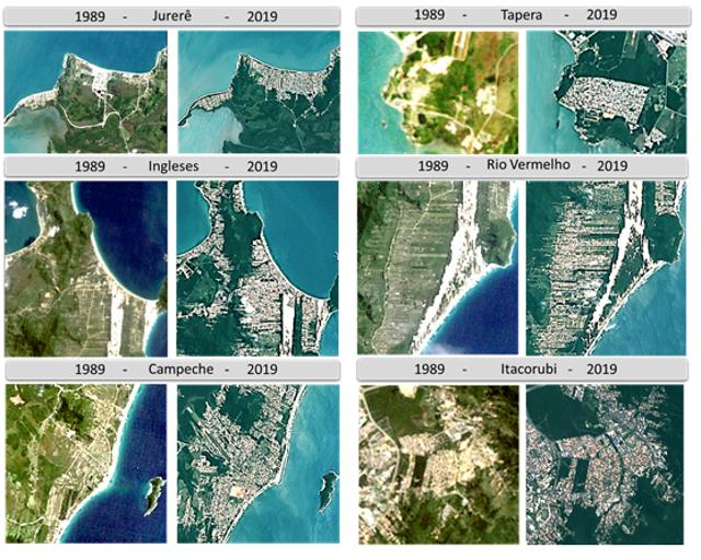 Imagens de satélite mostram expansão urbana em Florianópolis – Foto: Divulgação/ND