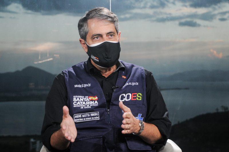Secretário de Estado da Saúde, André Motta Ribeiro, que detém a caneta mais poderosa do Coes; lockdown descartado em SC – Foto: Leo Munhoz/ ND