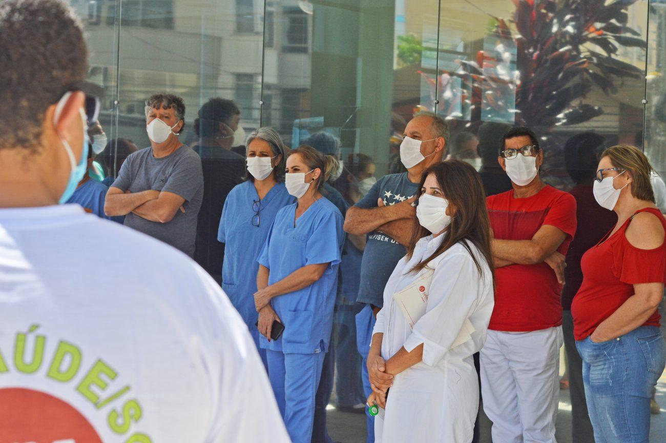 Divulgação/Sindsaúde - Sindsaúde organiza diversas ações em defesa do lockdown em SC