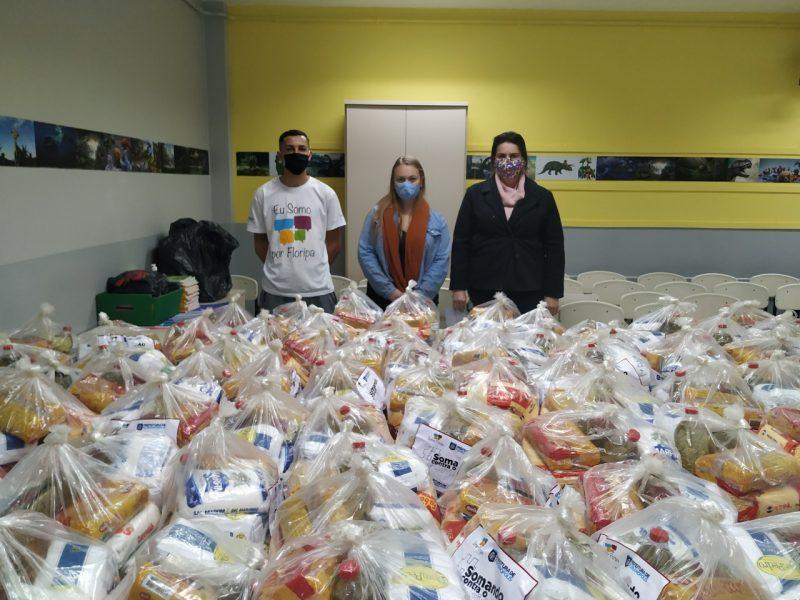 cestas básicas separadas para doação em florianópolis