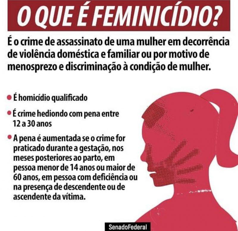Associação esclarece às mulheres o que é feminicídio – Foto: Reprodução/Redes sociais/Divulgação/ND