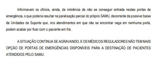 Trecho da nota da OZZ Saúde afirma que situação continua se agravando. – Foto: Divulgação/ND