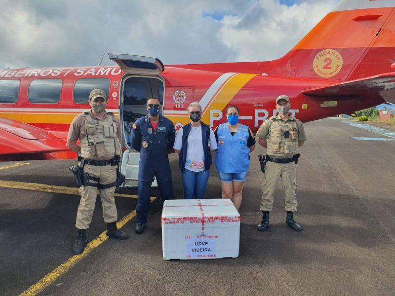 Videira já recebeu as doses – Foto: Corpo de Bombeiros/ND