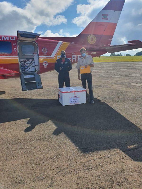 As doses já chegaram em Joaçaba – Foto: Corpo de Bombeiros/ND