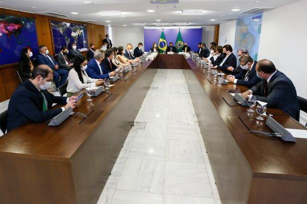Bancada catarinense reunida através do Fórum Parlamentar Catarinense – Foto: Gabinete Vice-Governadora/SC/divulgação