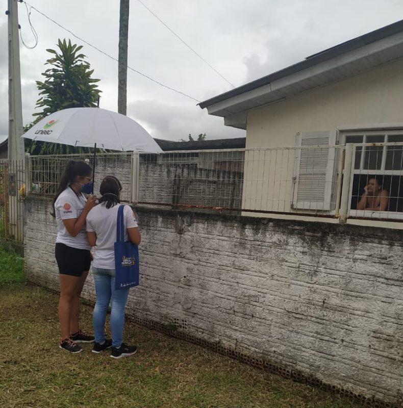 Profissionais fizeram entrevistas domésticas, em Criciúma – Foto: Divulgação/Unesc
