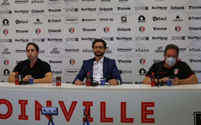 Apresentação aconteceu na manhã desta sexta-feira (30), na Arena Joinville – Foto: Vitor Forcellini/JEC/Divulgação/ND