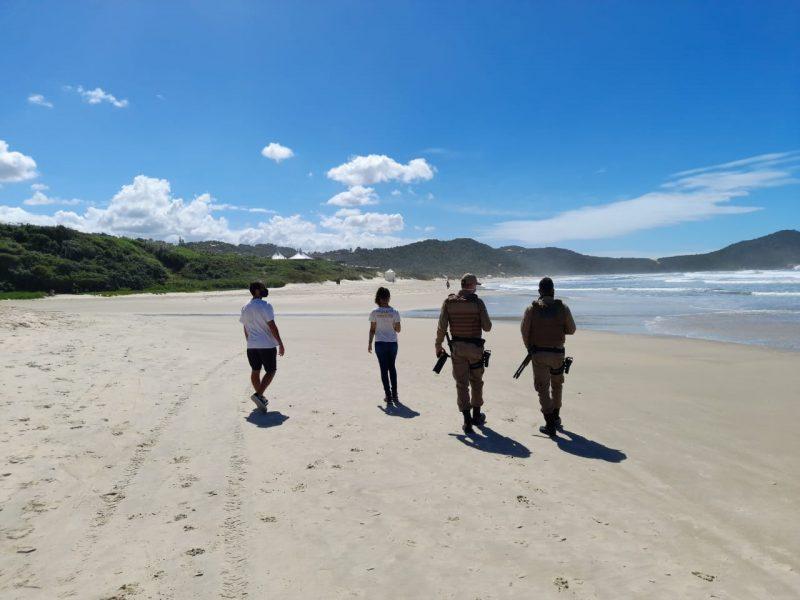 Monitoramento nas praias, no litoral Sul do Estado. – Foto: Prefeitura de Imbituba/divulgação