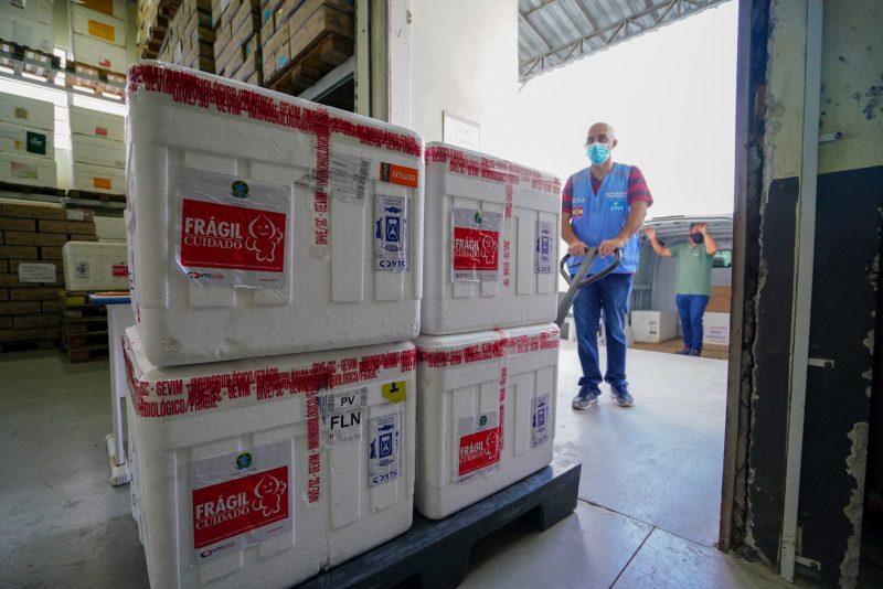 Santa Catarina receberá nova remessa de doses nesta quinta-feira (8) – Foto: Foto Ricardo Wolffenbuttel/Secom/Divulgação/ND