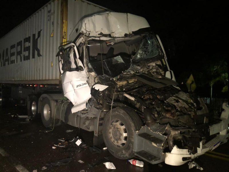 Acidente aconteceu na noite de terça-feira (6), na SC-417 – Foto: Ricardo Alves/NDTV